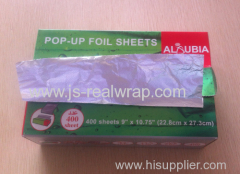 Pop-Up Aluminium Foil sheet