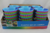 Ice cream bowls 3PK Mini bowls 3PK plastic in display box packing
