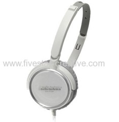 Audio Technica ATH FC700 Portable Stereo White Headphones with Lightweight Aluminium