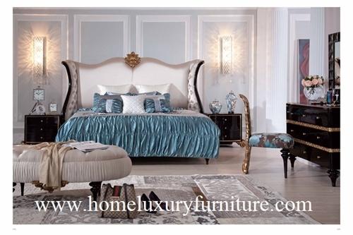 Antique Bedroom furniture bedroom sets Kingbed Solid wood Bed classic bed sets