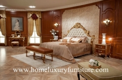 Bed neo classical bedroom sets antique Bedroom furniture Kingbed Solid wood Bed