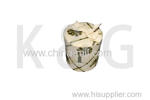 Paper box fiber wrapped box