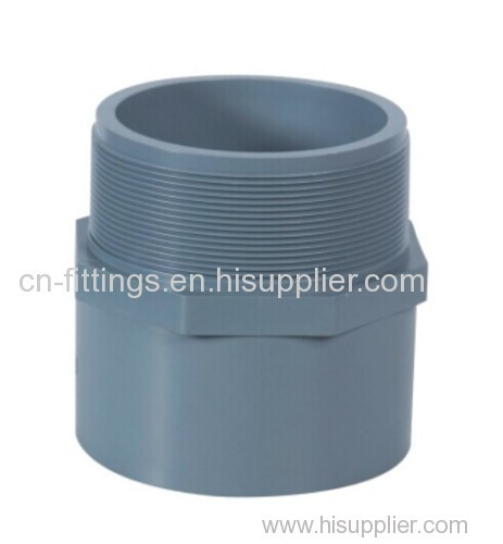 upvc male adapter/plug pipe fittings