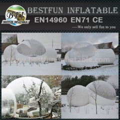 Clear lawn inflatable dome tent