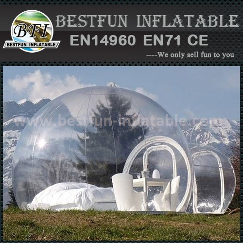 Novelty fashion design inflatable bubble tent