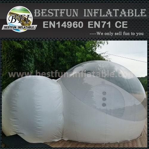 Half transparent inflatable bubble tent