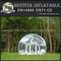 Inflatable clear tent for outdoor activity