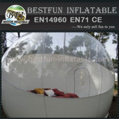 Inflatable clear tent used in amusement park