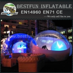 Inflatable lighting dome for festival party