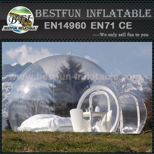 Inflatable bubble tent for lawn garden