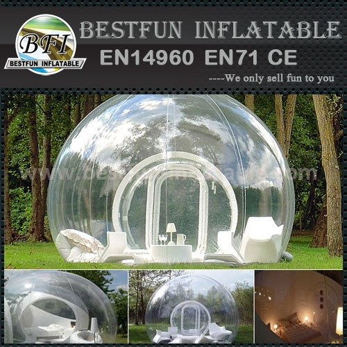 Nature inflated housing bubble transparent leisure tents