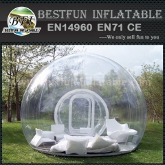 Oval shaped inflatable bubble camping tent