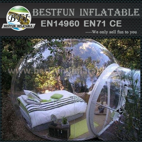 Outdoor camping clear inflatable bubble transparent tent