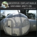 Projection clear inflatable bubble dome tent marquee