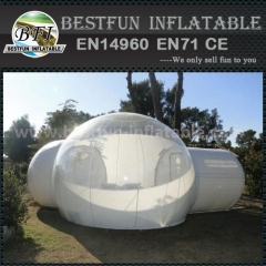 Beauty of transparent bubble tent camping