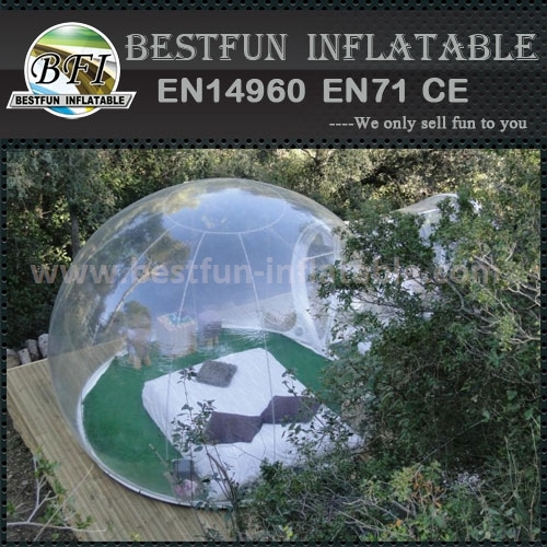 Custom clear inflatable bubble tent for sale