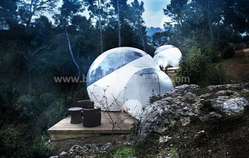 Custom inflatable crystal tube tent for commercial exhibition
