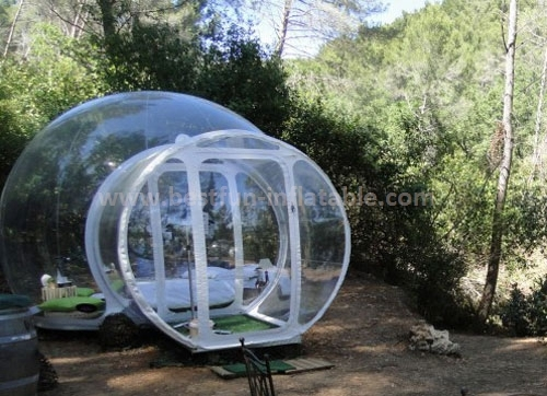Inflatable Clear Bubble Room Christmas Snow Globe Promotion Tent