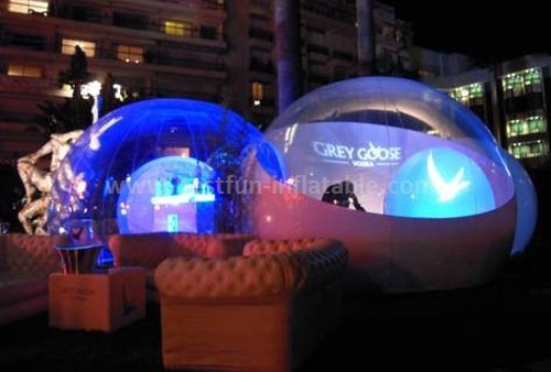 Lighting clear inflatable lawn tent