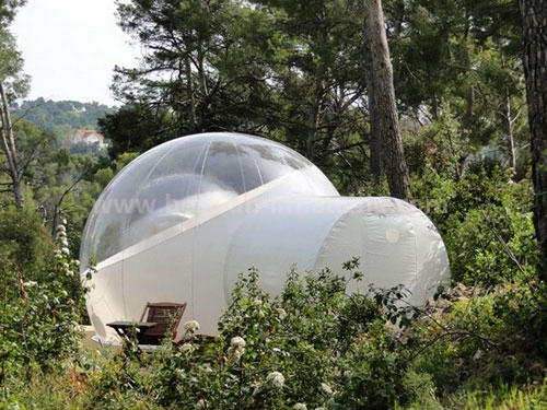 Welcomed unique transparent inflatable bubble tent