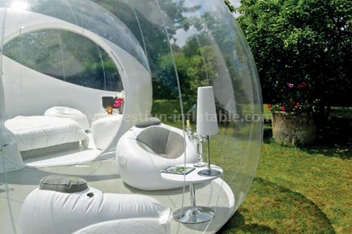 Commercial transparent inflatable belly bubble tree