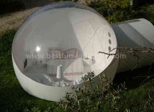 Durable and rain-proof igloo inflatable clear tent
