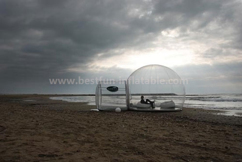 Inflatable beach sunset and camping clear tent