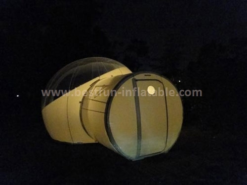 Inflatable outdoor camping bubble tent
