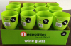 Wine glass Wine cup Wine goblet plastic green 375C in display box packing