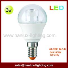 3W G45 240lm globe bulb