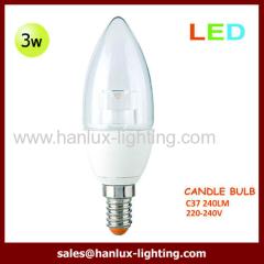 3W 240lm C37 globe bulb
