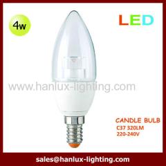 4W 320lm C37 globe bulb