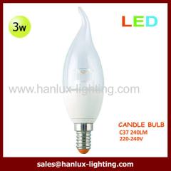 3W 240lm F37 E14 globe bulb