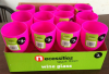 Wine glass Wine cup Wine goblet plastic pink in display box packing