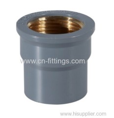 upvc female coupling with copper thread pipe fittings