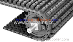 Roller top 1400 plastic conveyor belt friction top avoid skid