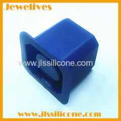 Glass silicone ice cube tray