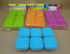 6PK mini square storage containers plastic