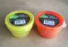 Set of 2 plastic snack food containers round