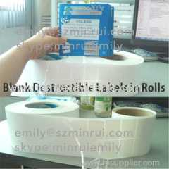 Blank Eggshell Vinyl Graffiti Stickers in Sheets or In Rolls
