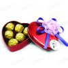 dongguan heart shape chocolate tin can