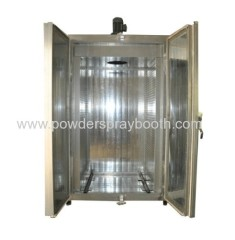 batch coating curing oven with cart