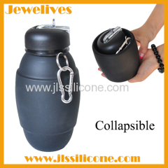 Folding silicone water bottle