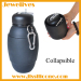 Collapsible Silicone colorful camping bottle