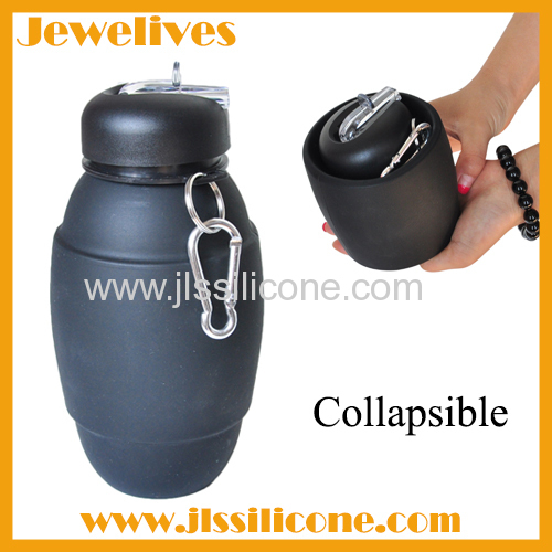 Folding silicone water bottle