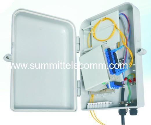 Outdoor Ftth Box With Plc Splitter 1 16 Optical Fiber