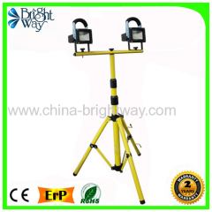 Rechargeale 2*10W Led Work Flood light with Tripod