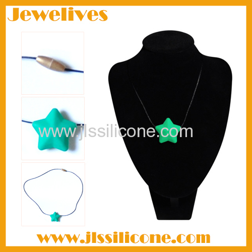 Single star bead Silicone necklace