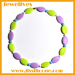 Silicone double color beads shape necklace