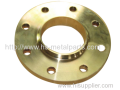 Bronze investment casting plate flange